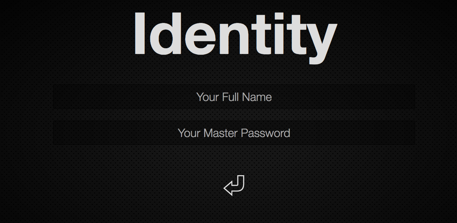 Master Password's interface