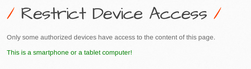 Restrict Device Acces
