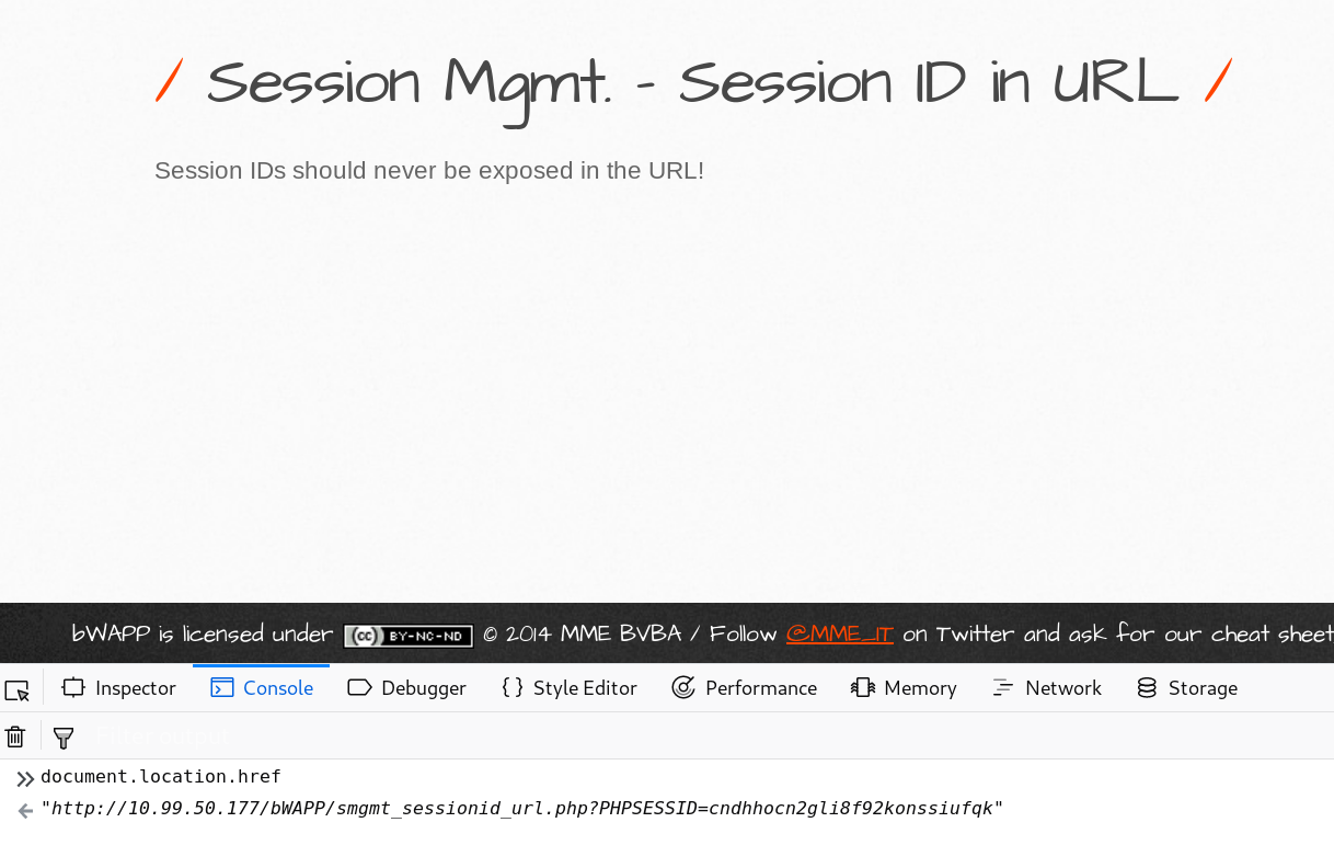 Session Management - Session ID in URL